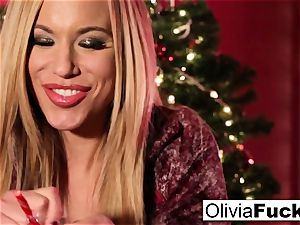 Christmas getting off with chesty platinum-blonde Olivia