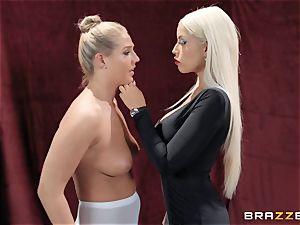 lesbians Bridgette B and Val Dodds mighty cooch slurping after ballet