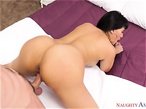 Mercedes Carrera blowing on a giant pecker