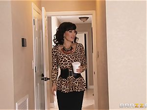 Jade Nile romps her guy with his wonderful stepmom Lisa Ann