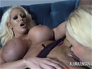 Alura and her busty girl/girl pal Dolly get super-naughty