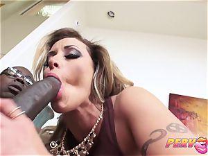interracial pummel for Eva Notty horny milf