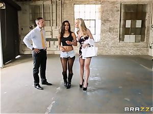 Brandi love lets ho-bo Abbey Lee Brazil screw her man