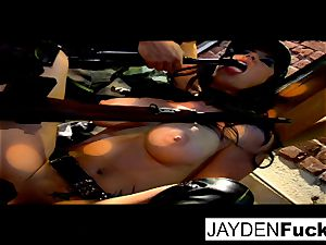 Jayden gets engaged on a fortunate solo cock