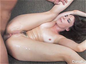 Dana DeArmond gets an ass-fuck ravaging on the sofa