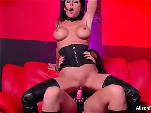 red room and super hot strap-on action
