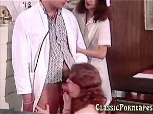 super-naughty doctor fucks her patient and her nurse