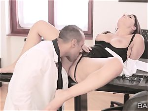 Valentina Nappi unwraps off and pulverizes her boss
