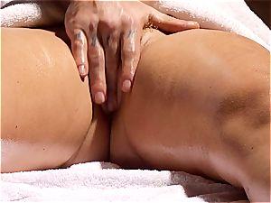 naughty masseur makes Krissy Lynn jiggle after sensuous enjoy making