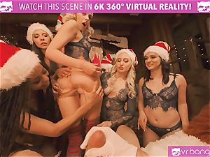 VRBangers Christams fuckfest With Eight gorgeous Elves
