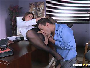 Eva Angelina gets her bosses hefty man rod via her desk