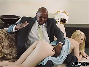 BLACKED submissive gf disciplined by two ebony studs