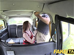 fake taxi Olive flesh redhead in undergarments