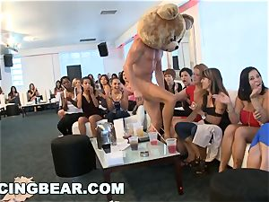CFNM motel soiree with enormous boner male Strippers