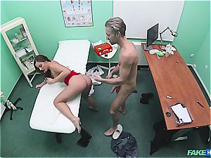 fake hospital super-sexy donk patient with trimmed puss