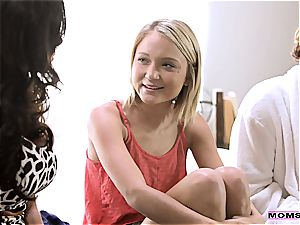 little ash-blonde has ass-fuck lovemaking with her stepbrother