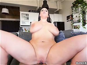 buxom stunner Angela milky pov
