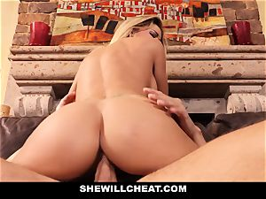 hotwife husband sees Wifes coochie Get ruined