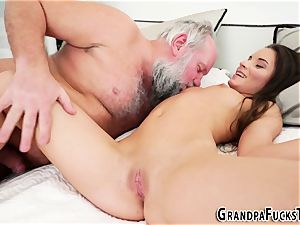 nubile nailing old gramps