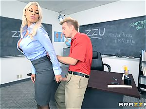 teacher Bridgette B gets her college girl to jism on her huge-titted baps
