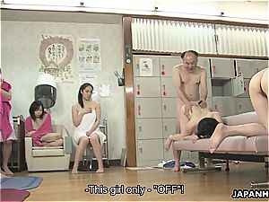 japanese sluts are getting humped in a hot spa