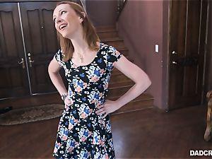 Ginger teenage Katy smooch throating prick