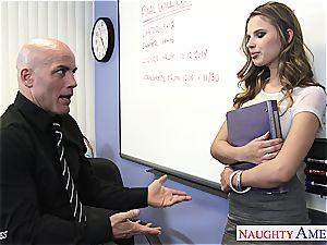 slim Jillian Janson super-naughty for her teacher's schlong