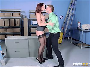 Chanel Preston tears up her luxurious dude at work