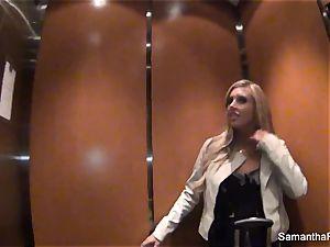Behind the episodes with blonde superstar Samantha Saint