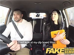 fake Driving college Jasmine Jae entirely bare hump in car