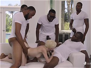 dirty hookup with 5 blacks and smallish 18-year-old nubile Piper Perri