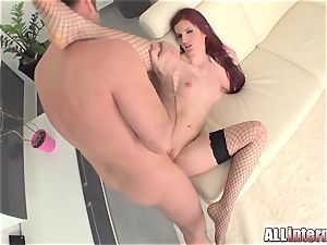 Tall doll Mira's cunt is porked and filled with cum