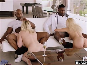 wild sisters Kylie Page and Hadley Viscara want giant piece of ebony meat