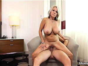 thick boobs milf gets buttfuck tear up and facial