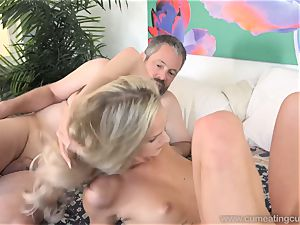 Emma Hix and spouse nail Her youthful dude pal