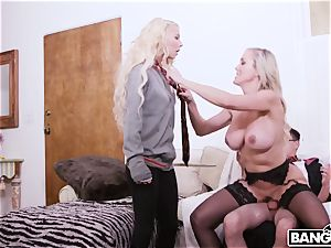 Harry Potter and Hermione and huge-titted Mature whore Brandi love