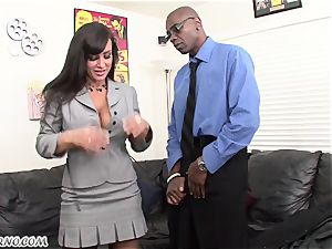 bi-racial porn with mature cutie Lisa Ann with ample milk cans