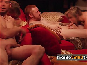 Redheaded wifey comes out of her shell to display the insane slut inwards her