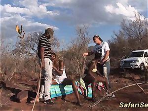 African inhale safari bang-out