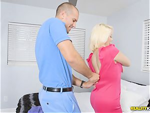 large man-meat glides into sizzling blonde babe Sunny