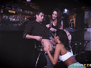 Monique Alexander and August Ames get their poons sunk with Xanders knob