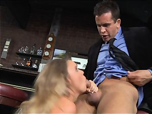 Alexis Adams romps the boss in the bar