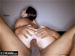 BLACKEDRAW Latina wifey unloads with 12 inch monster dark-hued man sausage