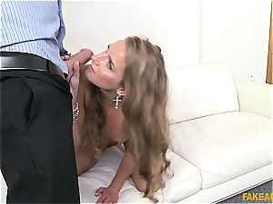 Russian hottie Sofi Goldfinger ravaged by the audition agent