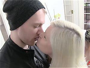 AgedLovE buxomy Lacey Starr hardcore and fellatio