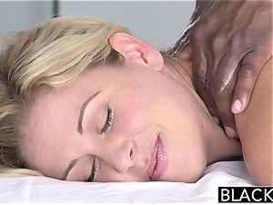 BLACKED red-hot Southern blondie Takes yam-sized black meatpipe