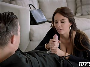 TUSHY gorgeous French doll likes buttfuck