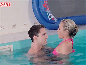 LETSDOEIT - naughty couple Has mischievous fuck-fest at The Pool