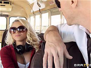 naughty hitchhiker Marsha May pounding super-hot bus driver