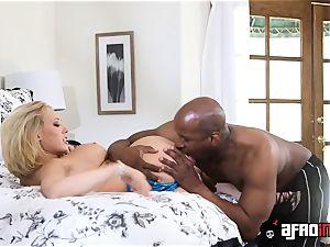 Kagney Linn Karter opens up eagle for throbbing big black cock